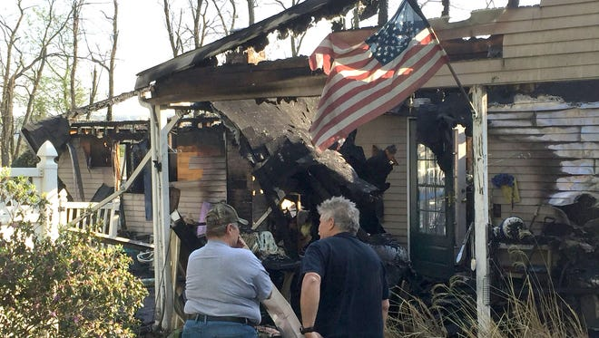 Fire destroyed a home early Thursday morning on York Hill Road Newberry Township.