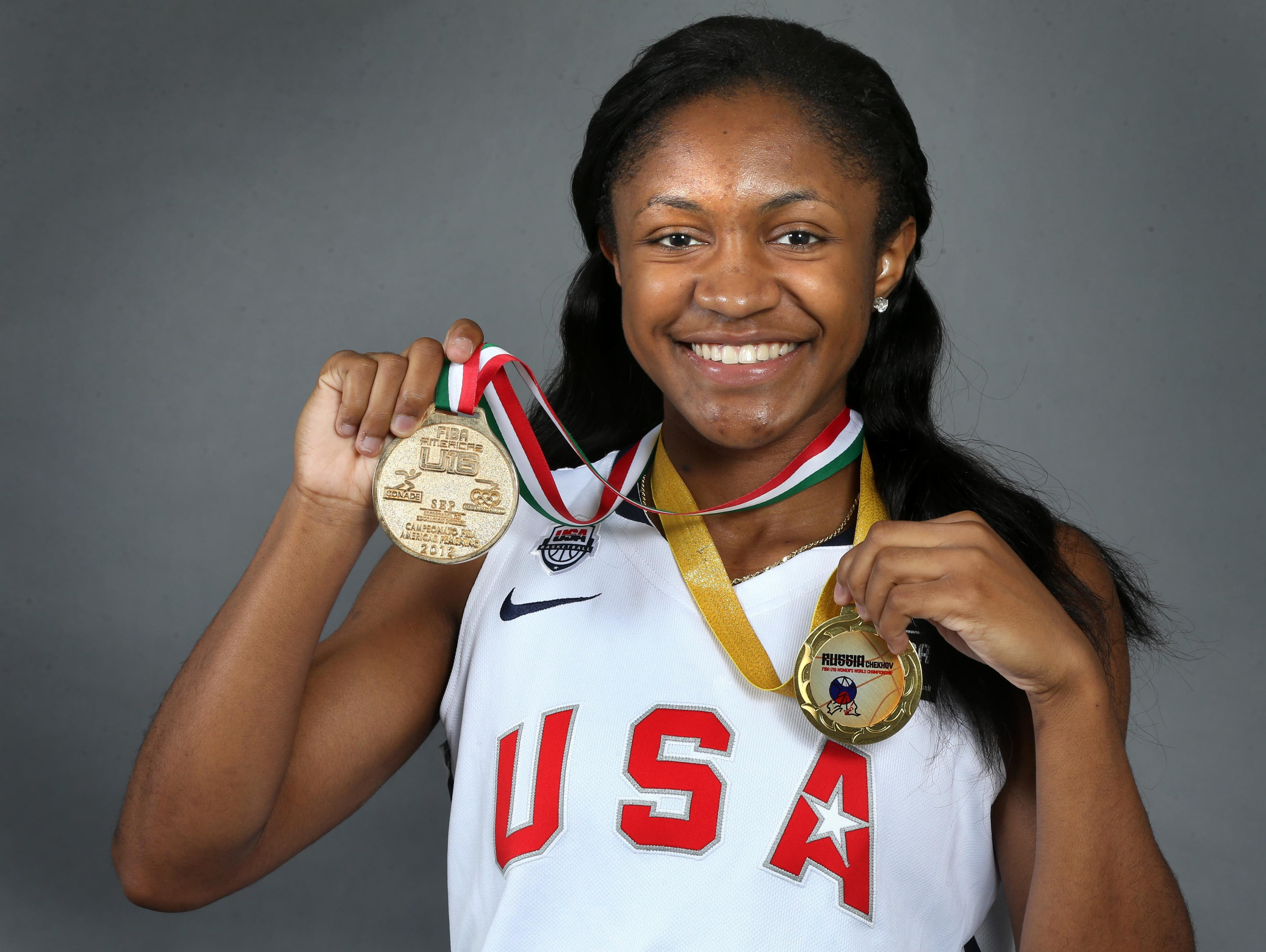 Blackman's Crystal Dangerfield won two gold medals while competing for Team USA.