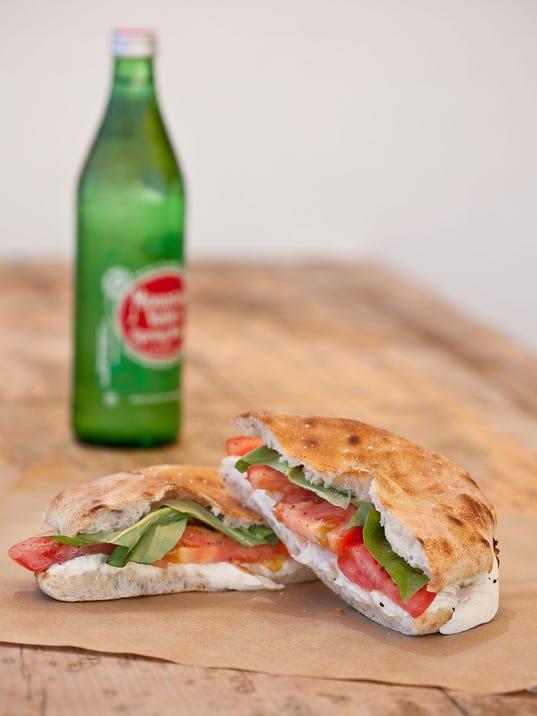 Mozzarella and Tomato Sandwich at Pane Bianco ($10)