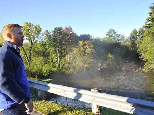 Ben Tilberg of Grand Rapids talks about his passion for canoeing at Four Mile Creek on Lake Wazeecha and his efforts to clean the creek of fallen trees.
