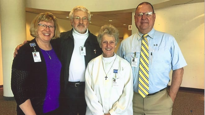 """From left, Betty Jo Steele, Don Murdy, Barbara Harrend and Harold """"H"""" Nelson."""