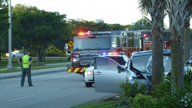 Collier County Sheriff's Office deputies on scene of the crash in Naples.