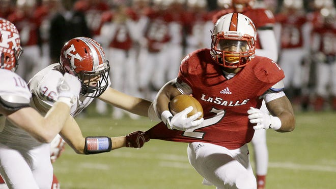 La Salle junior RB Jarell White and the Lancers travel to Piqua to face Perrysburg Friday night.