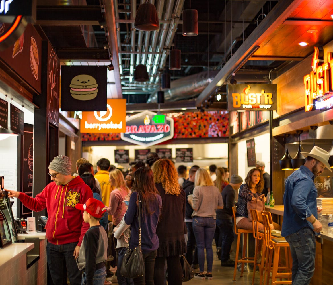 Legacy Hall is drawing huge crowds to its collection of 22 independent eateries.
