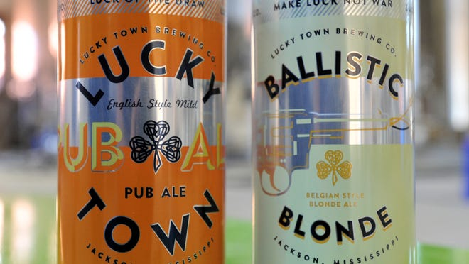 Lucky Town Brewery's Pub Ale and Ballistic Blonde