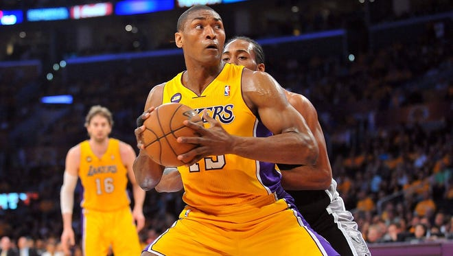 Former Pacer Metta World Peace (formerly Ron Artest) was re-signed by the Lakers.
