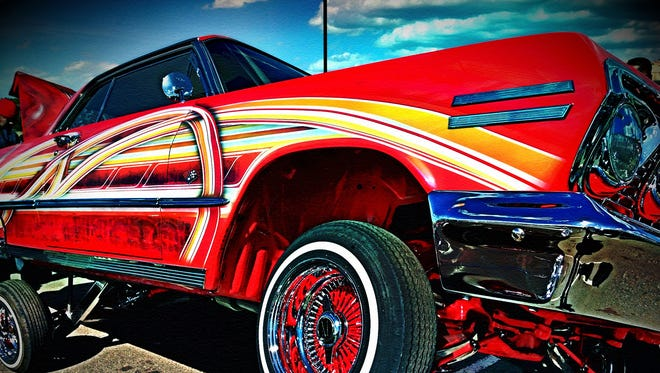 One of the photographs to be displayed in the Lowriders, Hoppers and Hot Rods photography exhibit in June.