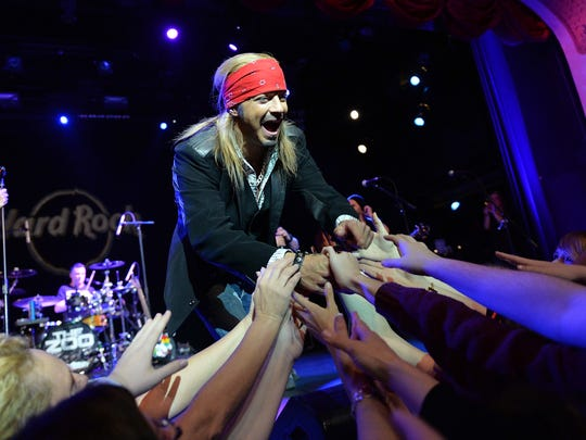 Bret Michaels welcomes fans at Hard Rock Cafe New York  in April 2014.