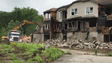Demolition of the abandoned Lakeside Manor townhouses