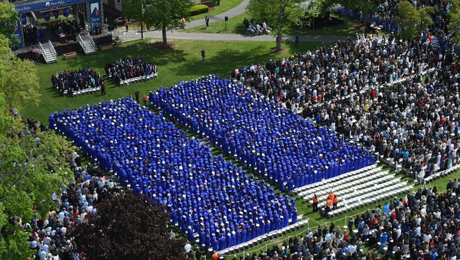 More than 1,800 undergraduates gathered for the State University of New York at New Paltz commencement ceremony on Sunday, May 15, 2016 in New Paltz.