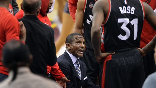 This season, during timeouts or when players come out of the game, coaches, like Toronto Raptors' Dwane Casey, can show his players video of what's going on during the game in real time.