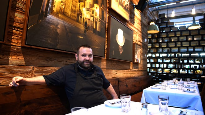 Chef Andy Hayes of Barcelona is a native Nashvillian who came up through Capitol Grille and then went to New York and is now back in Nashville. Wednesday Jan. 4, 2017, in Nashville, Tenn.