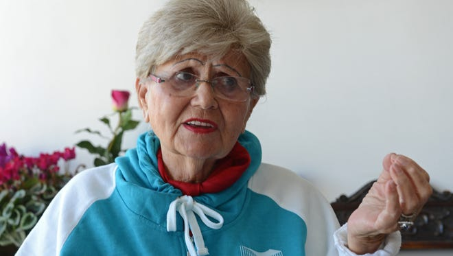 Renee Ganz, 86, originally from Oradea, Romania, discusses her time at the Auschwitz-Birkenau concentration camp.