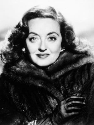 "Actress Bette Davis is seen in the film ""All About Eve"" dating from 1950.  Davis died in 1989."