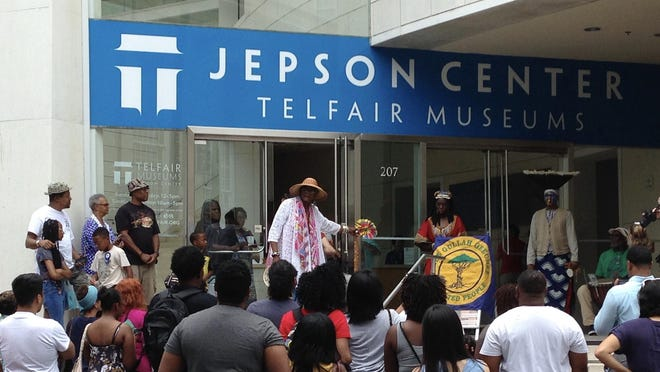 Telfair Museums celebrates Juneteenth on Thursday with a virtual lecture on early schools for blacks and early black teachers. Shown is a live presentation on Juneteenth at a previous celebration held at the museum.