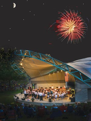 This previous fireworks program was sponsored by the city and involved the community band.