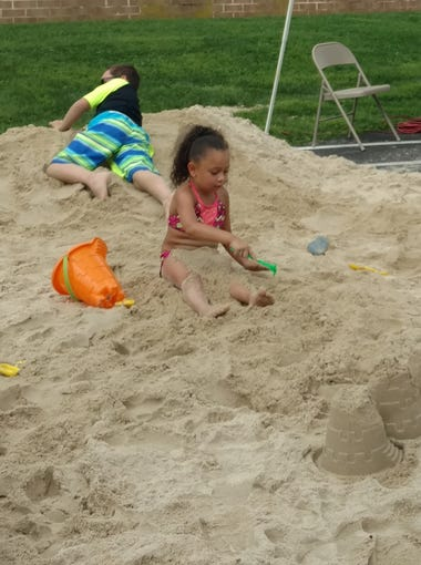 The first Lebanon Beach Party was held Saturday, Aug. 4, 2018, at the Lebanon Valley Family YMCA. Ten tons of sand were trucked in for the event, which featured sand castle contests and a beach ball balloon drop