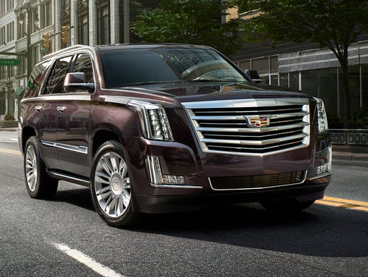 The 2015 Cadillac Escalade will get a new top-of-the-line model -- the Platinum -- with more luxury features and a starting price of $90,270 with shipping.