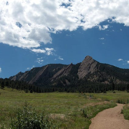 A view of the Flatirons in Boulder.