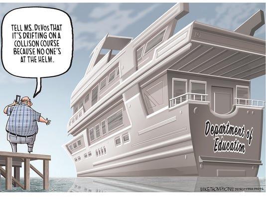 The DeVos yacht goes adrift