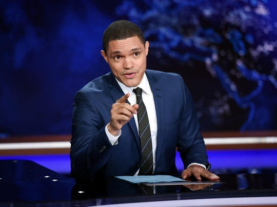 """The Daily Show"" host Trevor Noah and other late night"