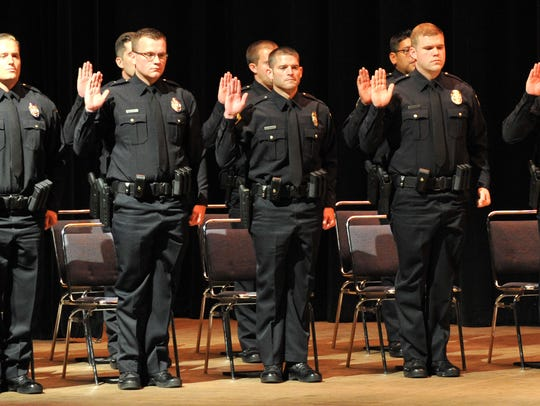 The Wichita Falls Police Academy 71st graduating class