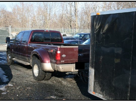 A Ford F-350 with an attached trailer, operated by James E. Matthews, 50, of Indianapolis, Indiana on March 3, was allegedly involved in what is being called the largest marijuana seizure in the last 20 years according to the Morris County Prosecutor's Office.