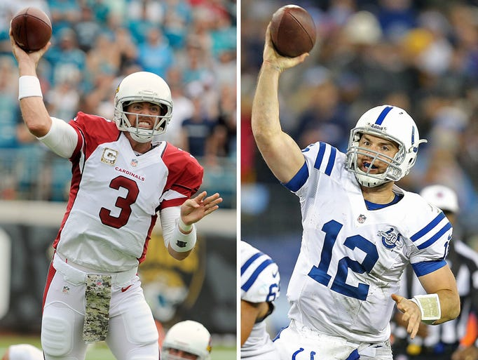 NFL Week 12: Where the Colts stand >> Is seven a lucky number? Indianapolis Colts fans may soon find out. That's where a few  national observers rate them among the NFL's 32 teams. Next up is a test from Arizona Cardinals quarterback Carson Palmer (3). Andrew Luck will try to lift the Colts' ranking. >> Compiled by Scott Horner
