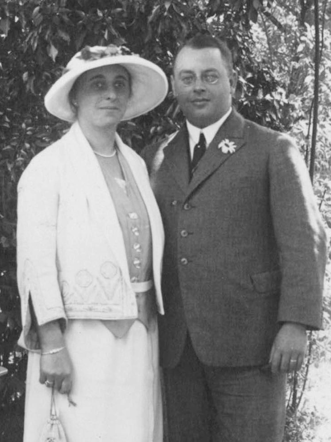 After marrying in 1919, Emmy and Fritz Grunewald settled