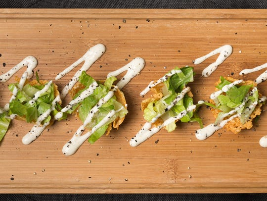 Caesar Salad Tuille recipe