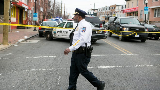 Capt. Faheem Akil is on scene of a double shooting along North Market and 22nd Street that left one person dead in Wilmington late Tuesday morning.