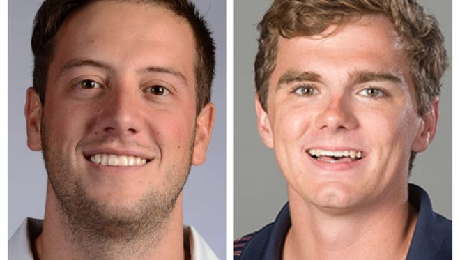 Pensacola News Journal sports writers Brian Achatz (left) and Eric Wallace (right) both won Top 10 honors in the breaking news category at this weeks Associated Press Sports Editors contest in St. Petersburg.