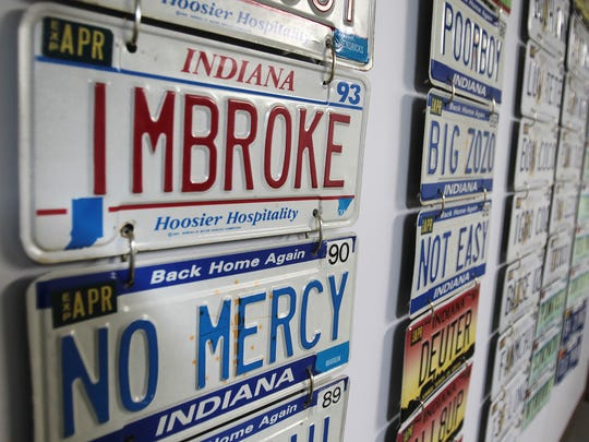William Hider of Avon has been ordering vanity license plates since 1978, a year after Indiana started the program.