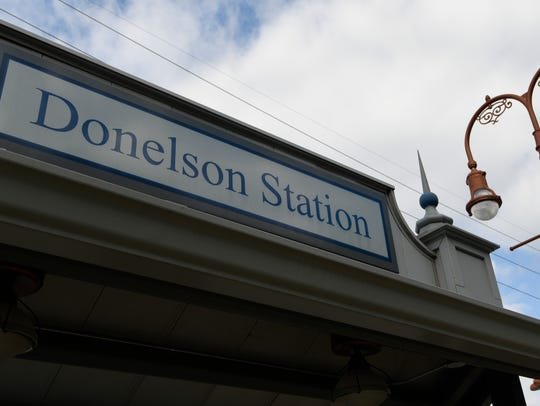 The Donelson Station along the Music City Star commuter train line.