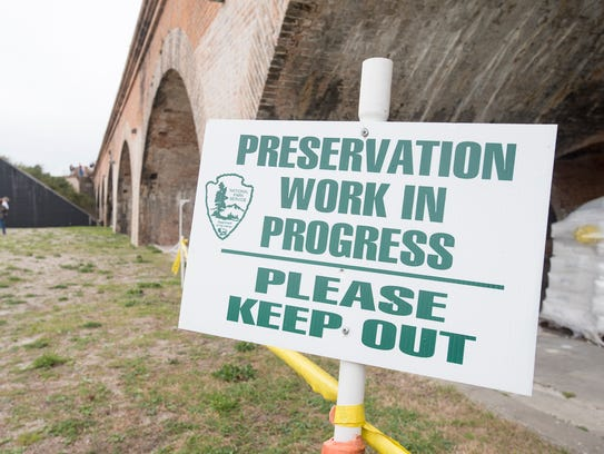 A preservation project was recently completed at Fort