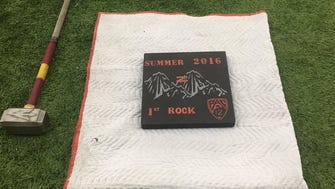 The 2016 version of the rock that Arizona State football breaks every year the close out the off-season workout program.