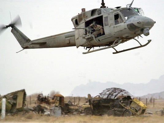 AFP AFGHANISTAN-US ATTACKS-ENDURING FREEDOM-HELICOPTER-WRECKAGE WAR AFG