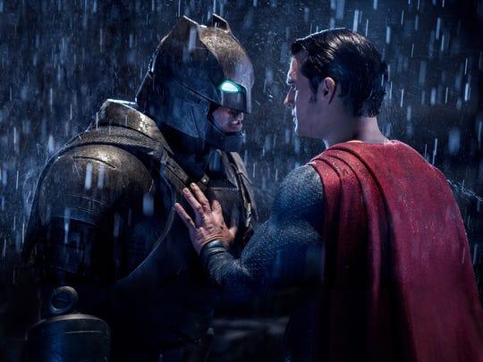 """Ben Affleck and Henry Cavill in """"Batman v Superman:"""