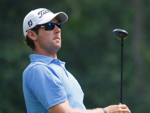 Max Buckley, with Westchester Country Club, at the 10th tee, during the 92nd WGA Open Championship at the Metropolis Country Club in White Plains on July 8, 2014.
