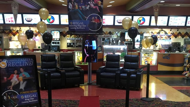 Regal Biltmore Grande is getting all-new recliner seating, complete with footrests.