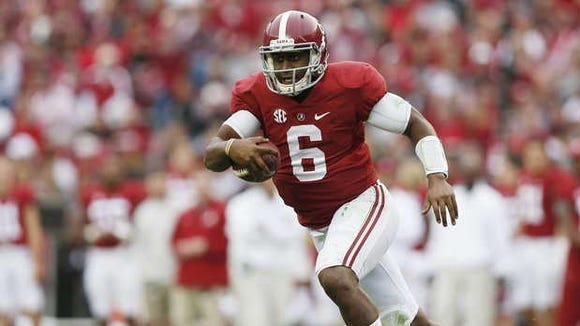 Blake Sims and the Alabama Crimson Tide are the new No. 1 in the Amway Coaches poll.