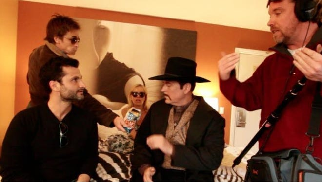 """Dan Davies (center, in the hat) as Cowboy in """"Flim: The Movie."""""""