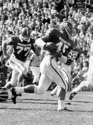 Bob Apisa was an All-American fullback at MSU in 1965