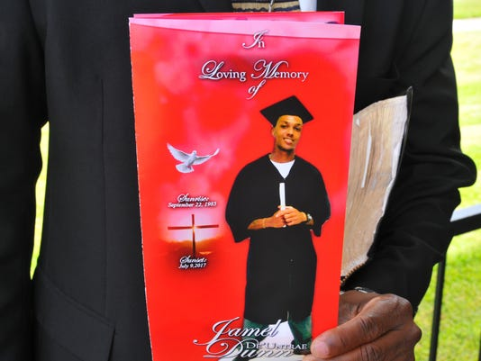 Funeral for Jamel Dunn