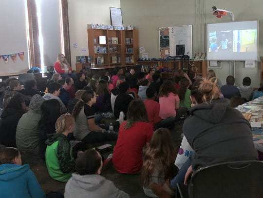 Students at Beecher Elementary School gathered recently
