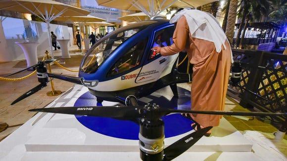 A model of the EHang 184 autonomous aerial vehicle