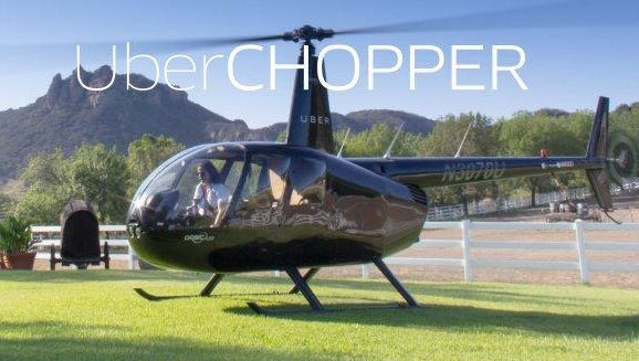 The ride-hailing service is partnering with Nashville company Helistar Aviation to offer its UberCHOPPER service to Bonnaroo Music and Arts Festival goers.