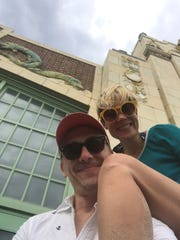 Chris Gash and Jennifer Sudol on the beach at Asbury Park, their go-to place as adults for fun.