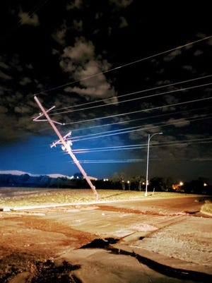 The June 4 storm left 116 LP&L poles either broken or bent.