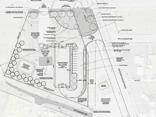 The proposed construction of a 10,000 square-foot building